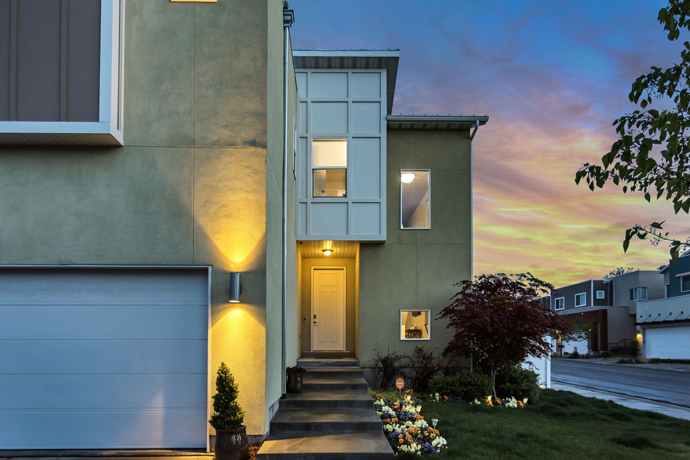 House at dusk featured for Bank home loans